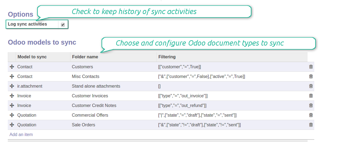 Onedrive models structure
