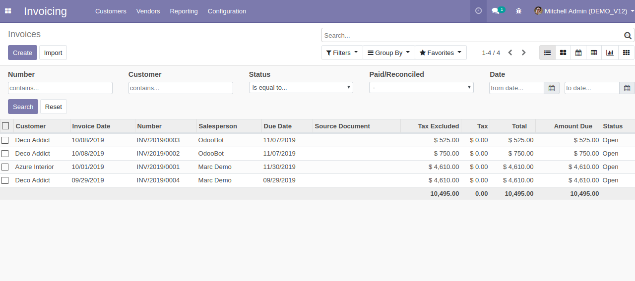 Advance Search & Quick Search Odoo 3