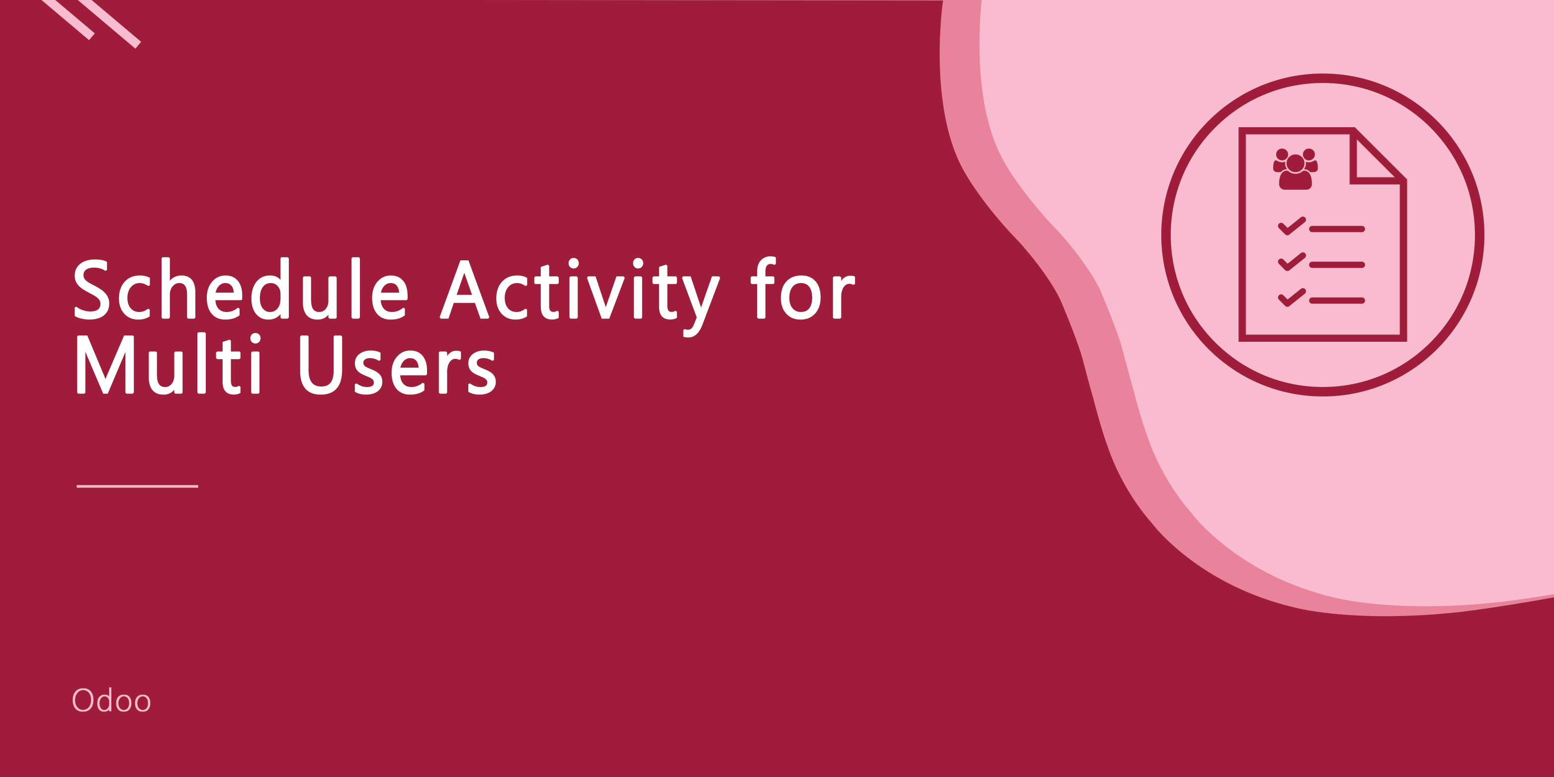 Schedule Activity for Multi Users
