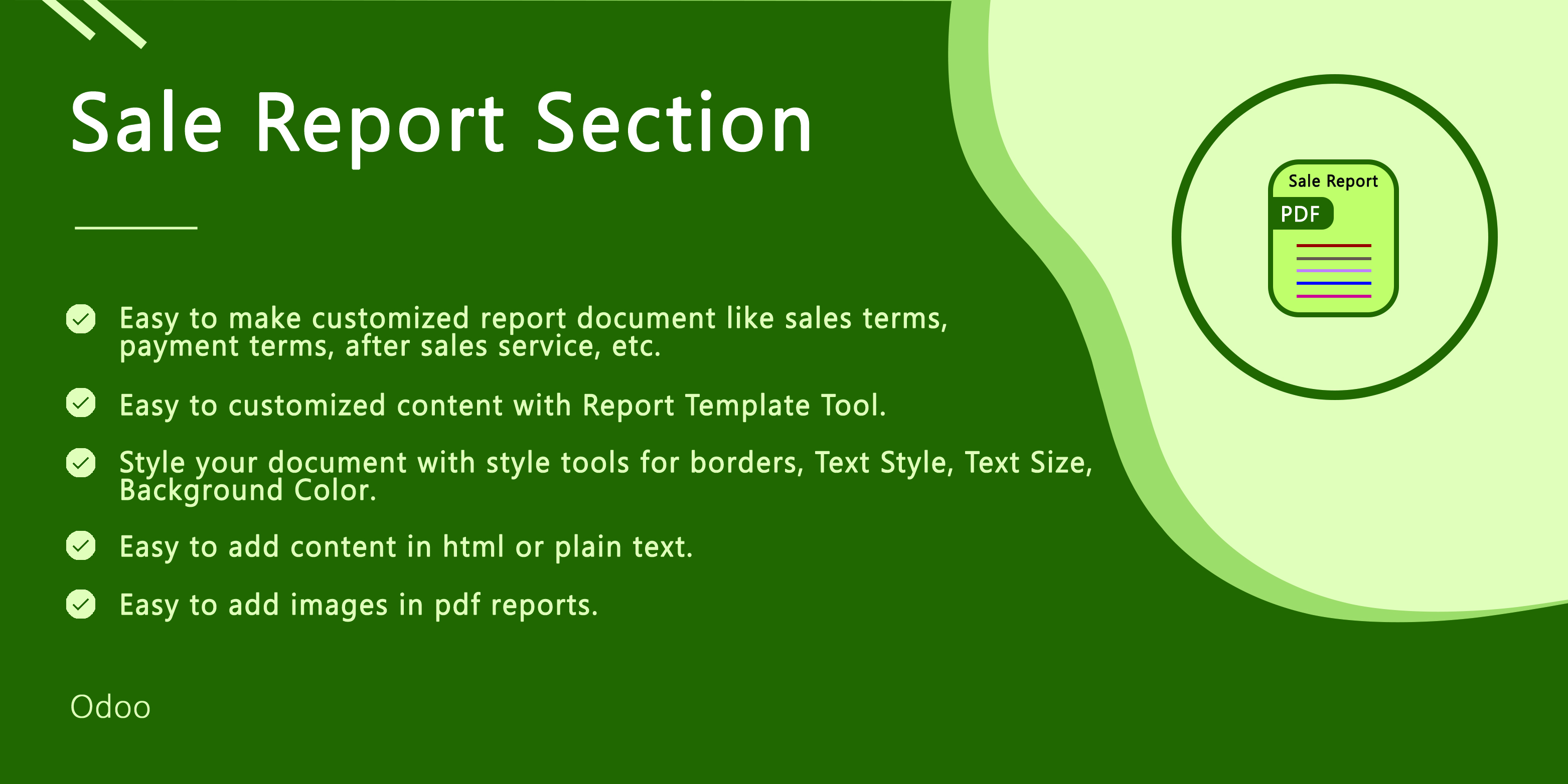 Sale Report Section