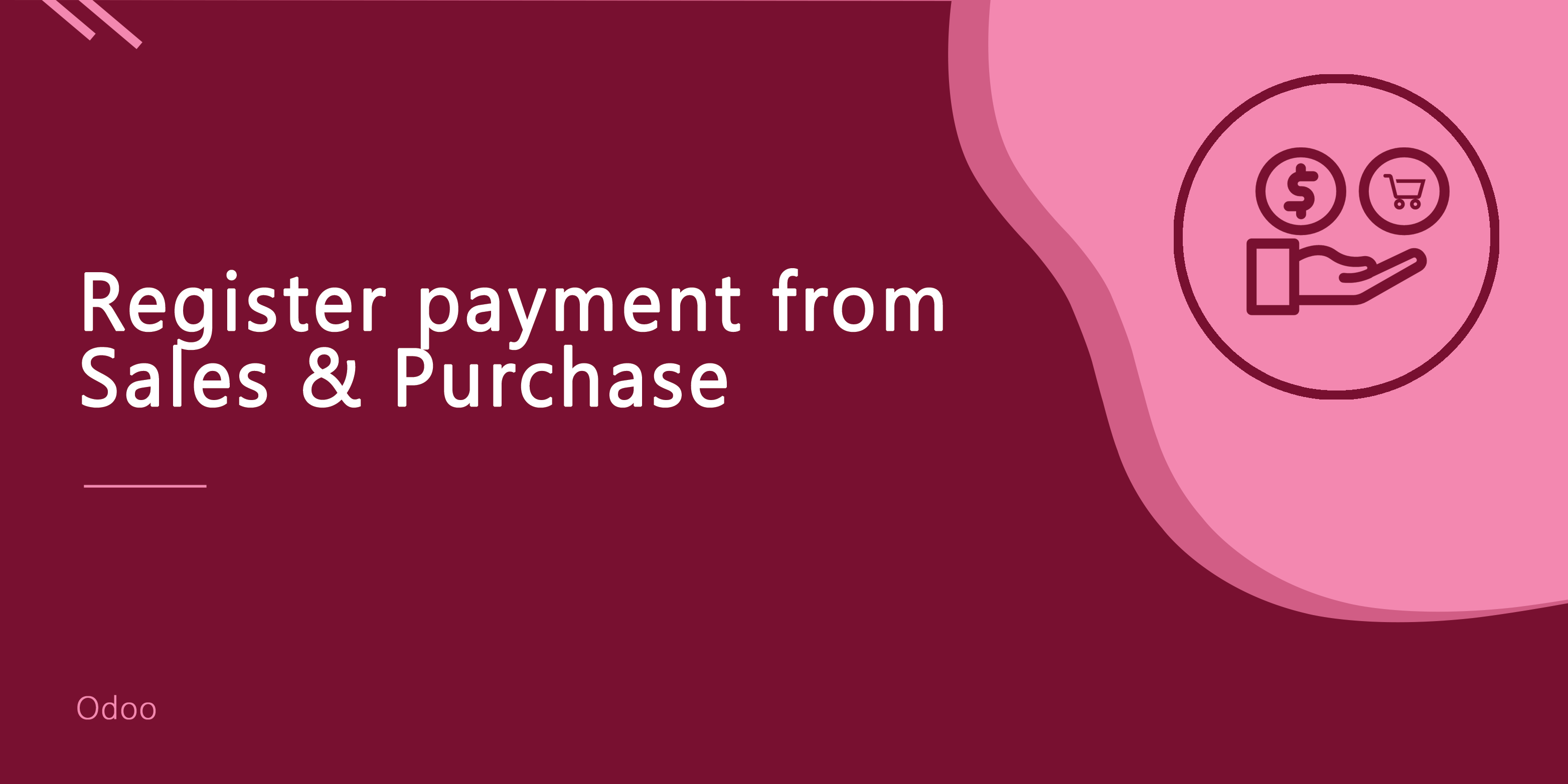 Register Payment From Sale & Purchase