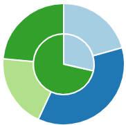 Pie Chart with multiple groups