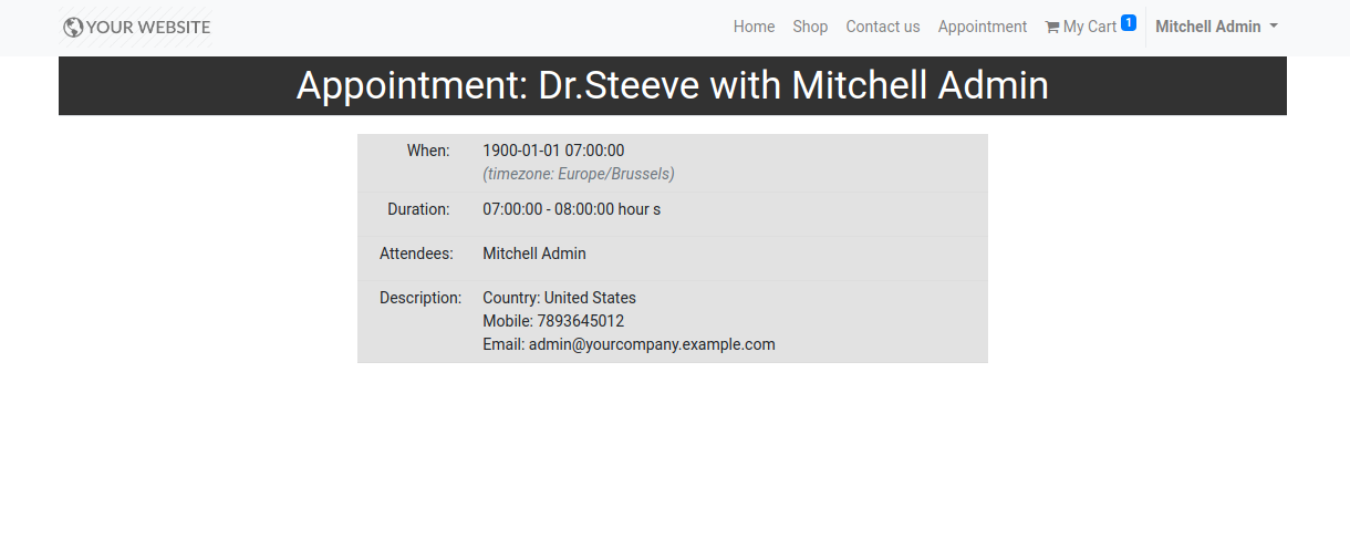 Patient Appointment Booking in odoo v14