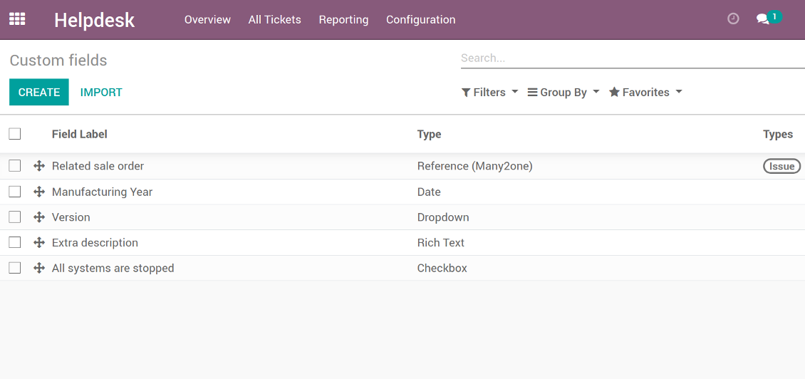 Customize properties of Helpdesk tickets