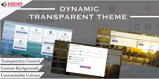 Dynamic transparent theme