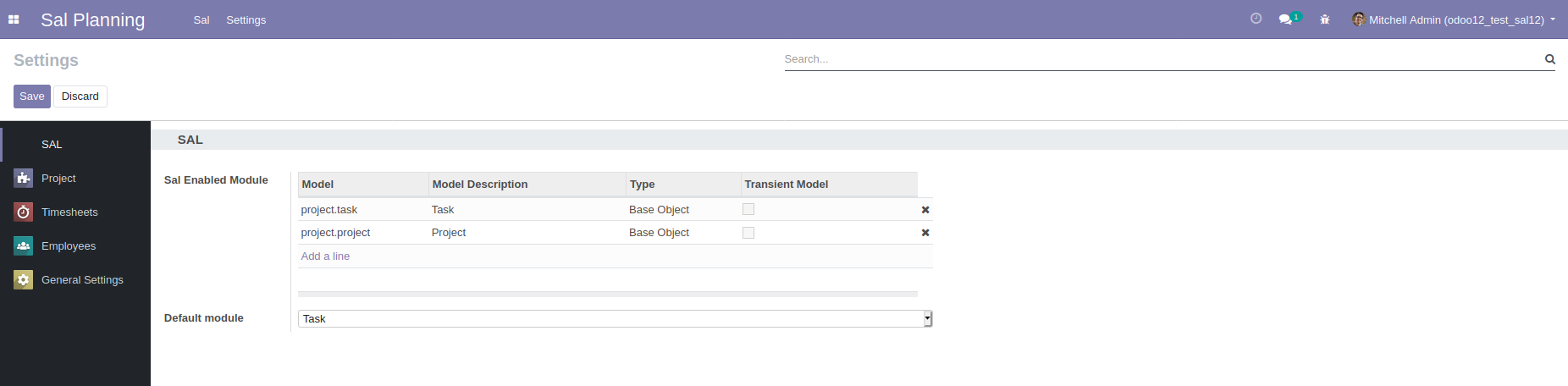 Setting SAL in Odoo - Netfarm Sal Planning