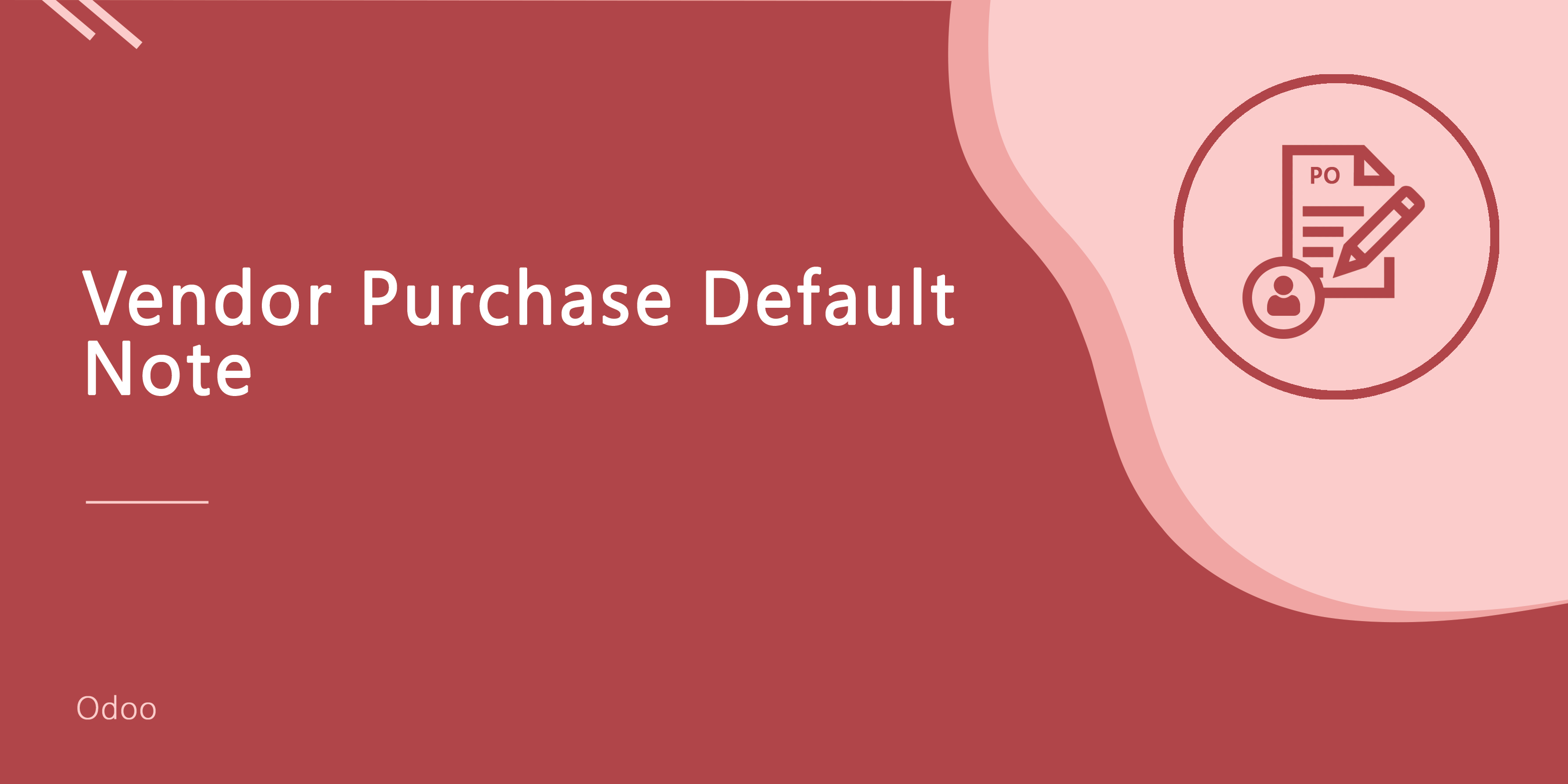 Vendor Purchase Default Note