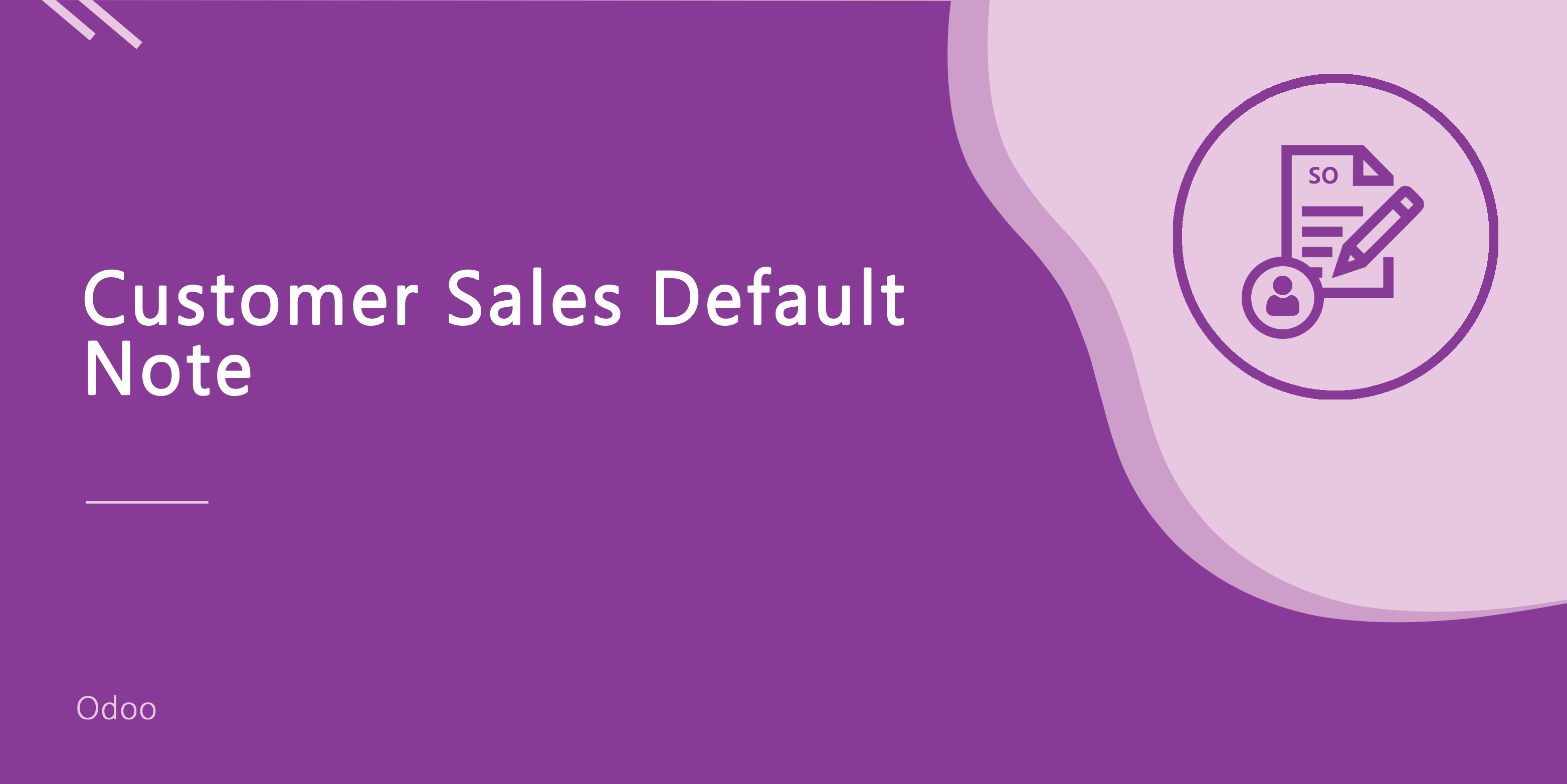 Customer Sales Default Note