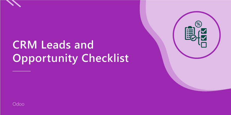 CRM Leads & Opportunity Checklist