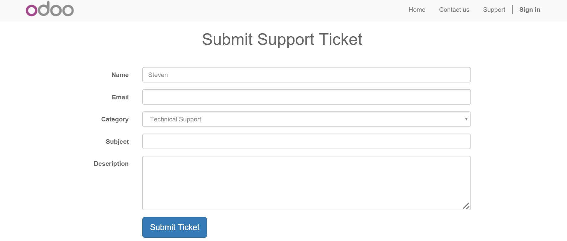 Submit Support Ticket Online