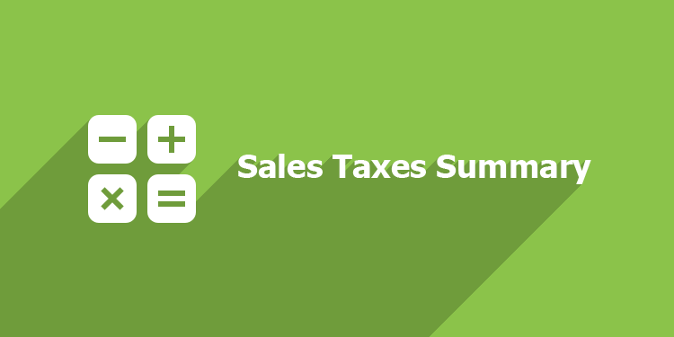 Sales Taxes Summary