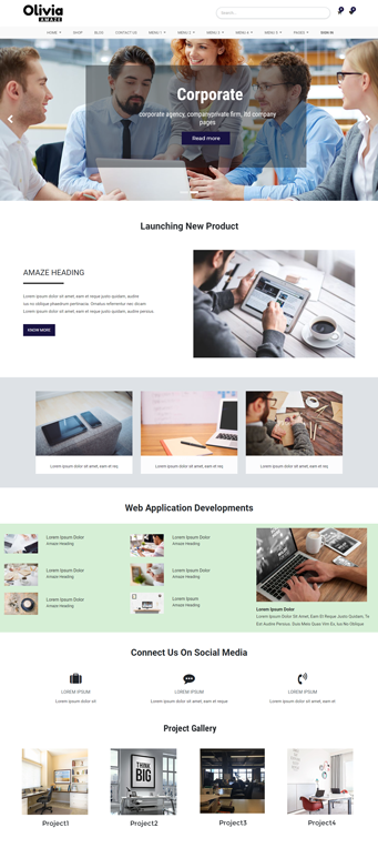 Business odoo theme, Corporate odoo theme, odoo theme for website, odoo front end theme