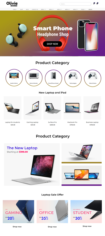 Electronics odoo themes, electronics ecommerce website odoo theme