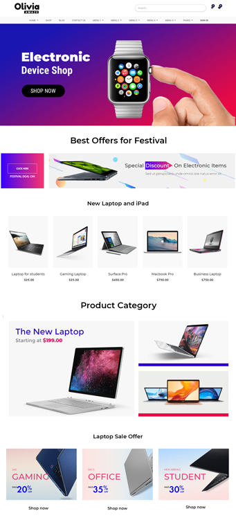 Odoo e-Commerce theme