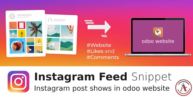 Instagram Feed Snippet in odoo, instagram in odoo website odoo 14 13 12 11