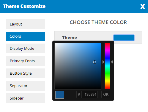Dynamic color Picker box