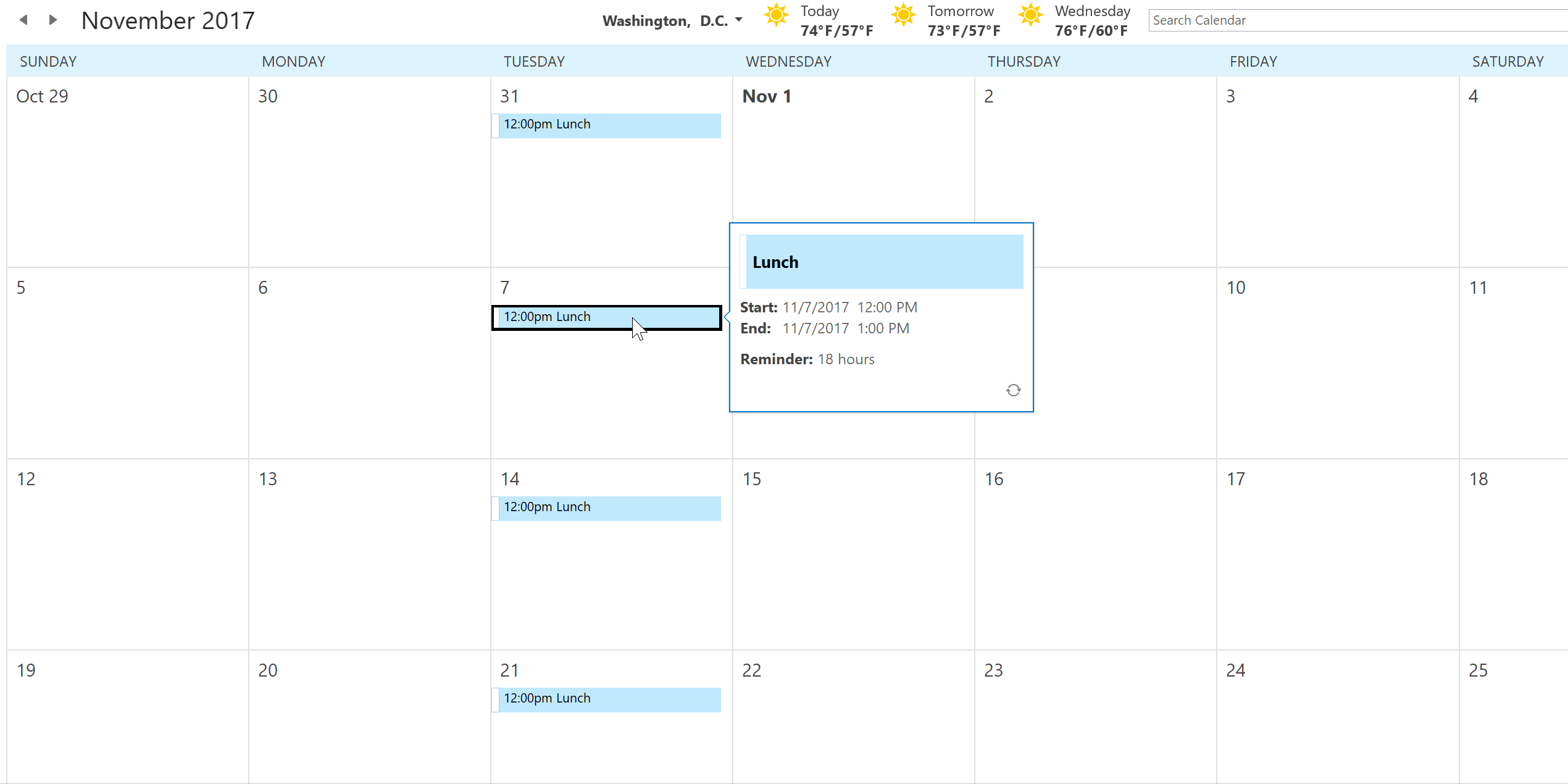 Office 365 Calendar Recurring