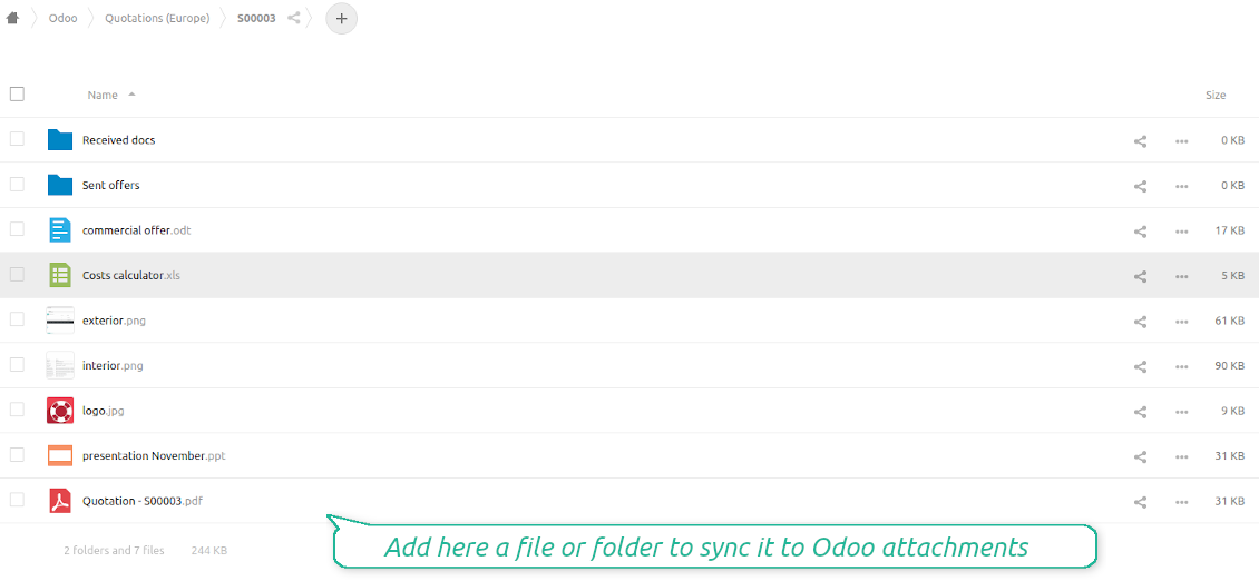 Odoo attachments as NextCloud / OwnCloud files