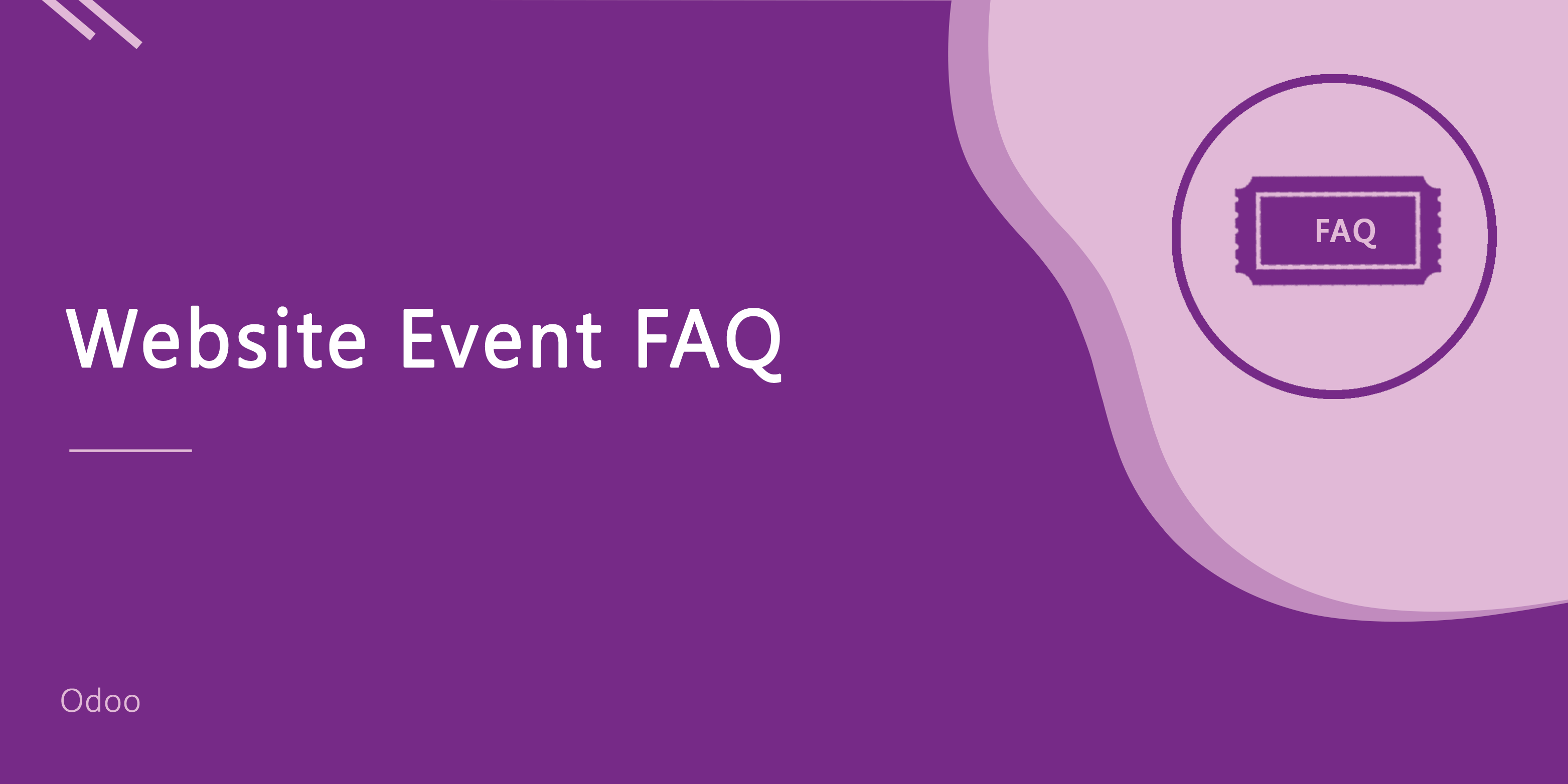 Website Event FAQ