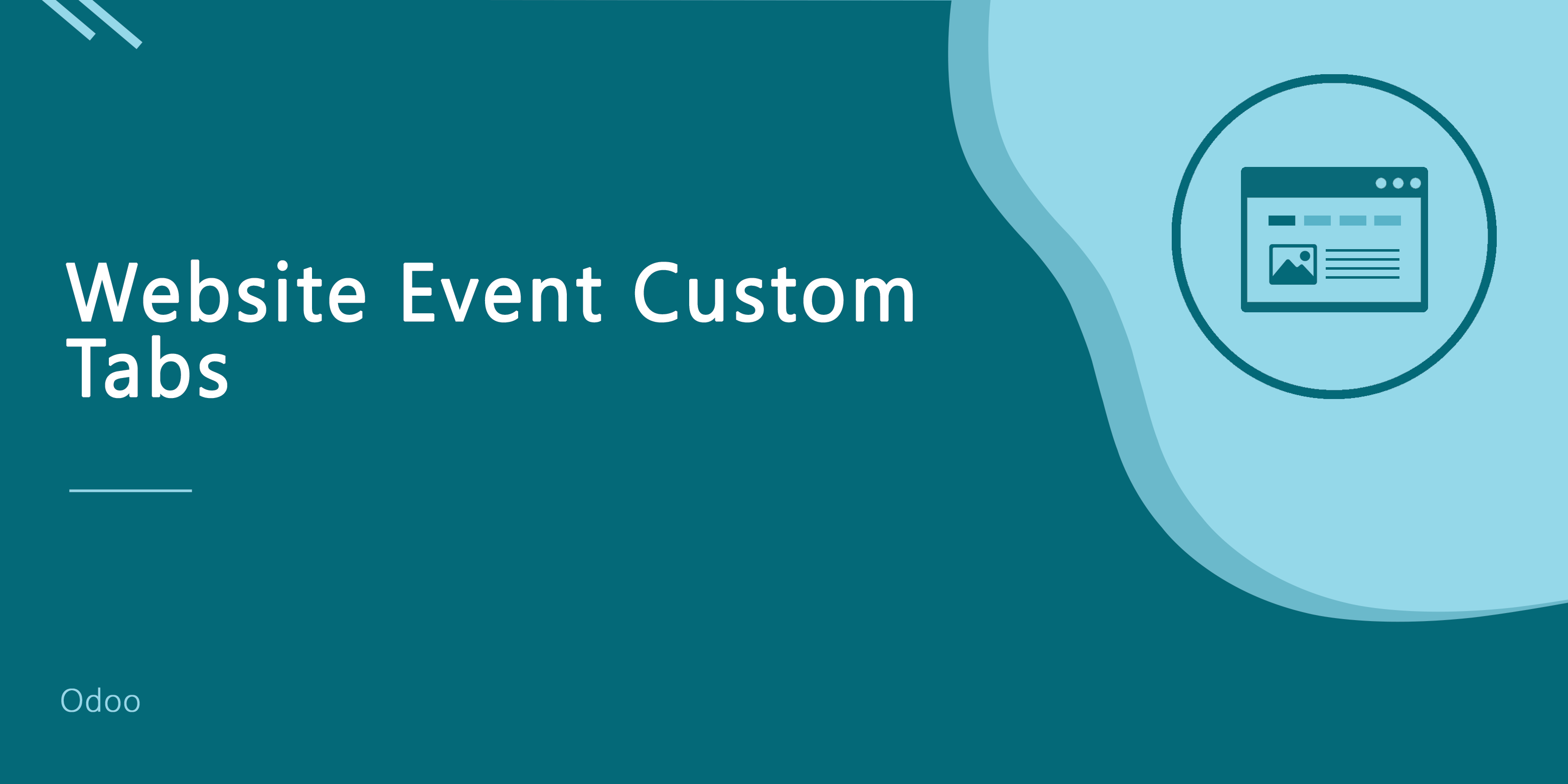 Website Event Custom Tab