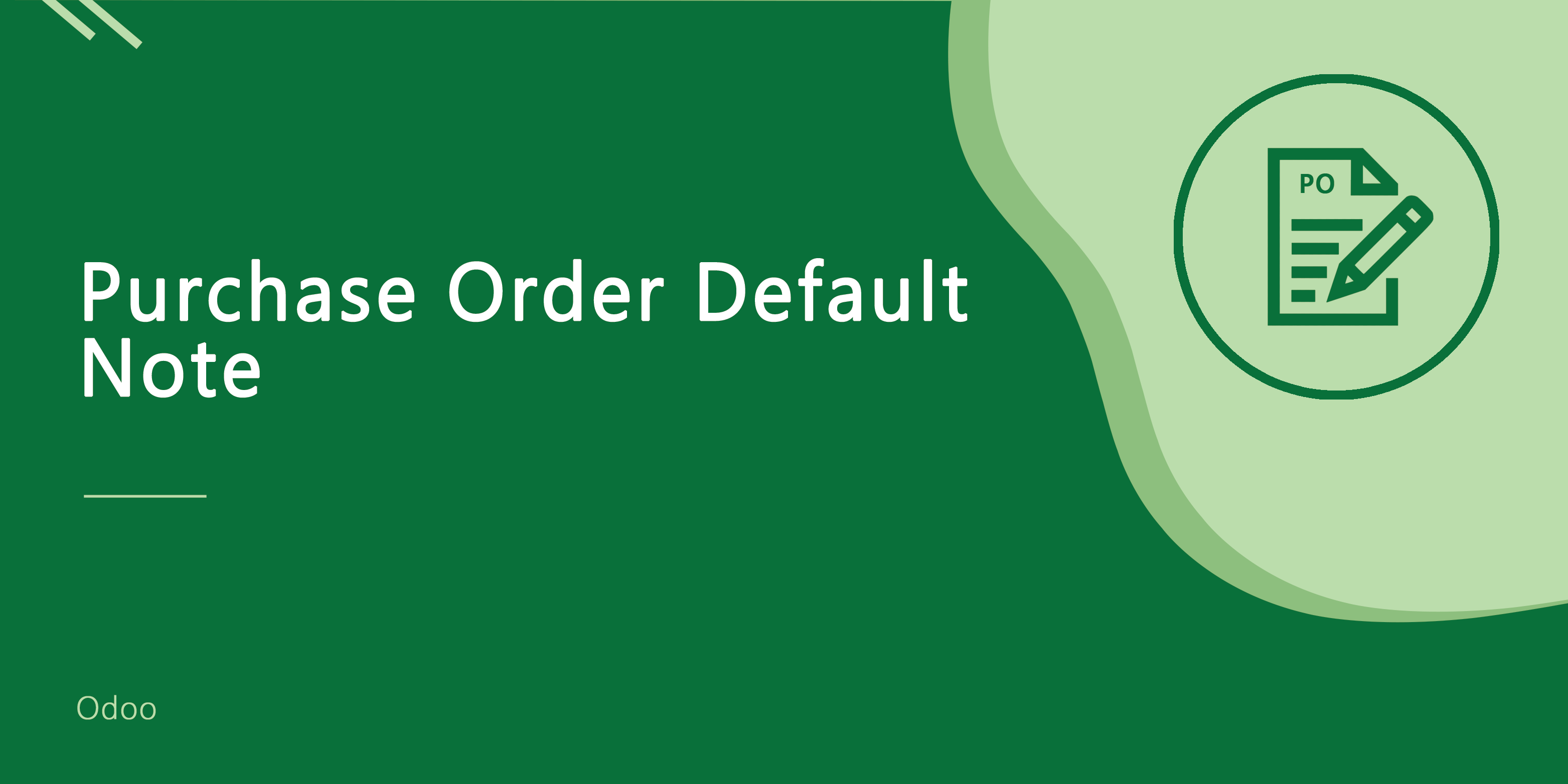 Purchase Order Default Note
