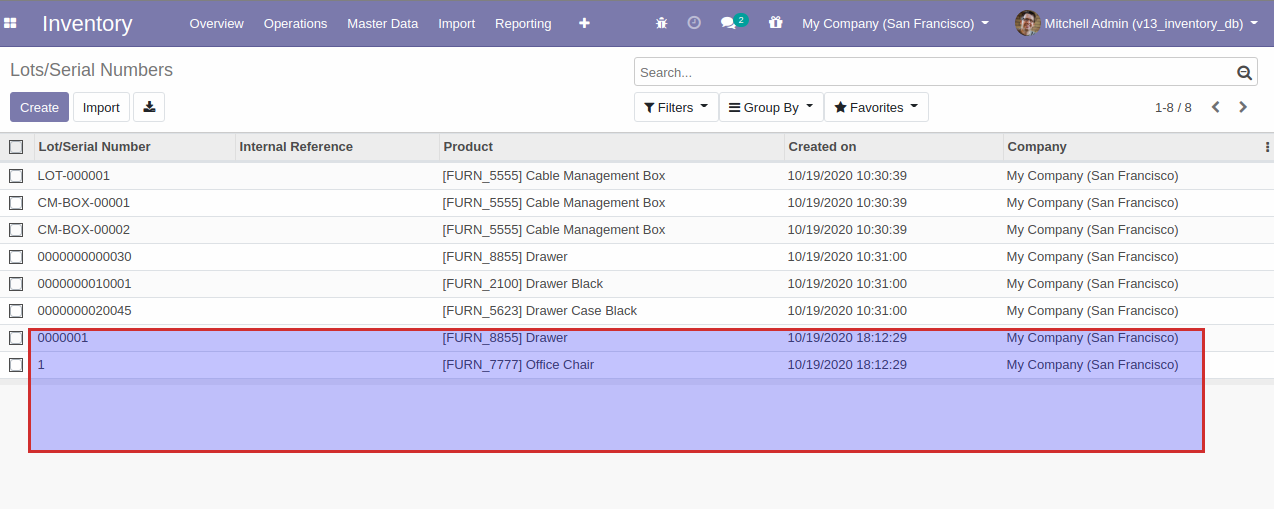 Import Product Lot Serial Number in odoo 13