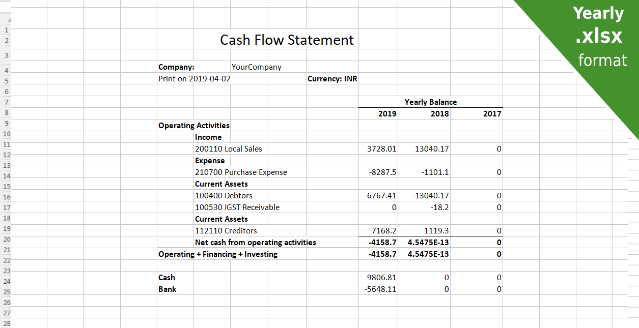 odoo apps for create odoo account Cash flow report pdf, excel