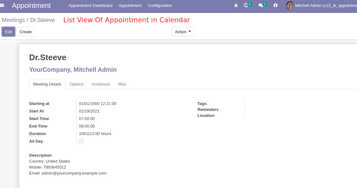Doctor Services booking odoo module