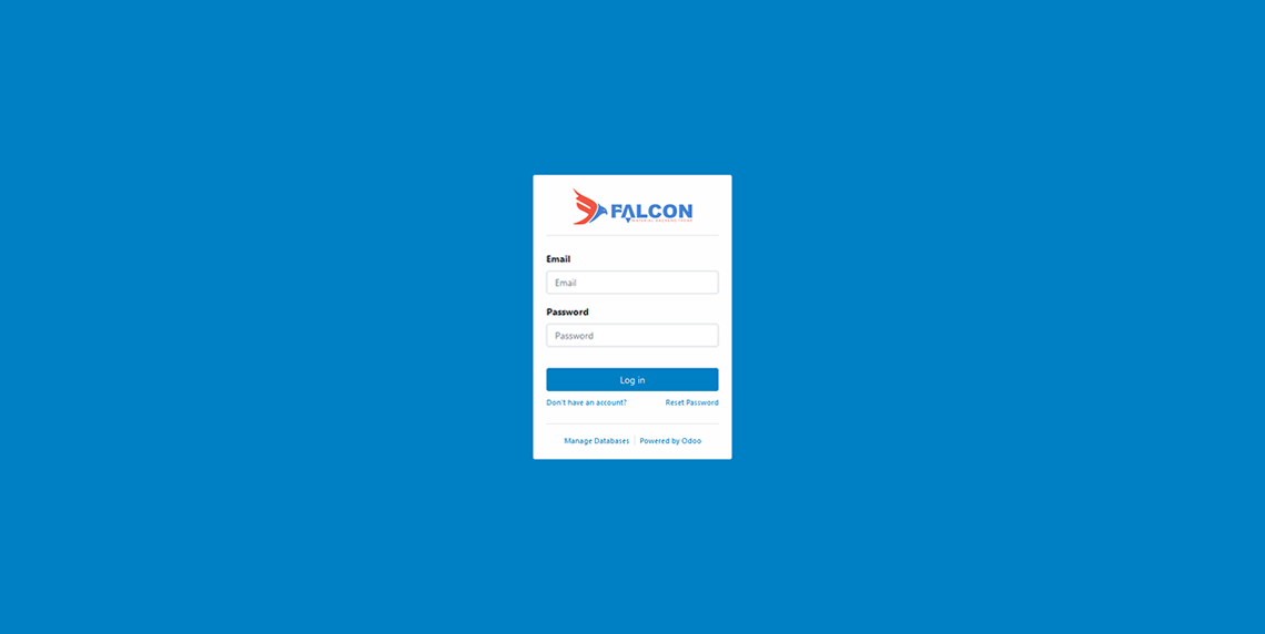 Login page with Background color