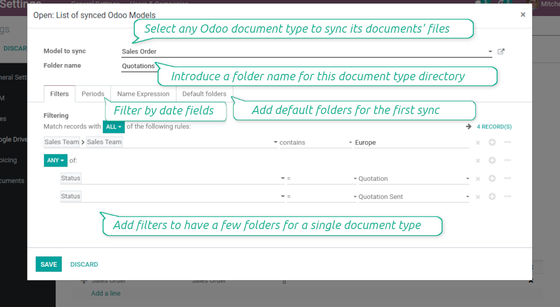 NextCloud / OwnCloud documents filtered