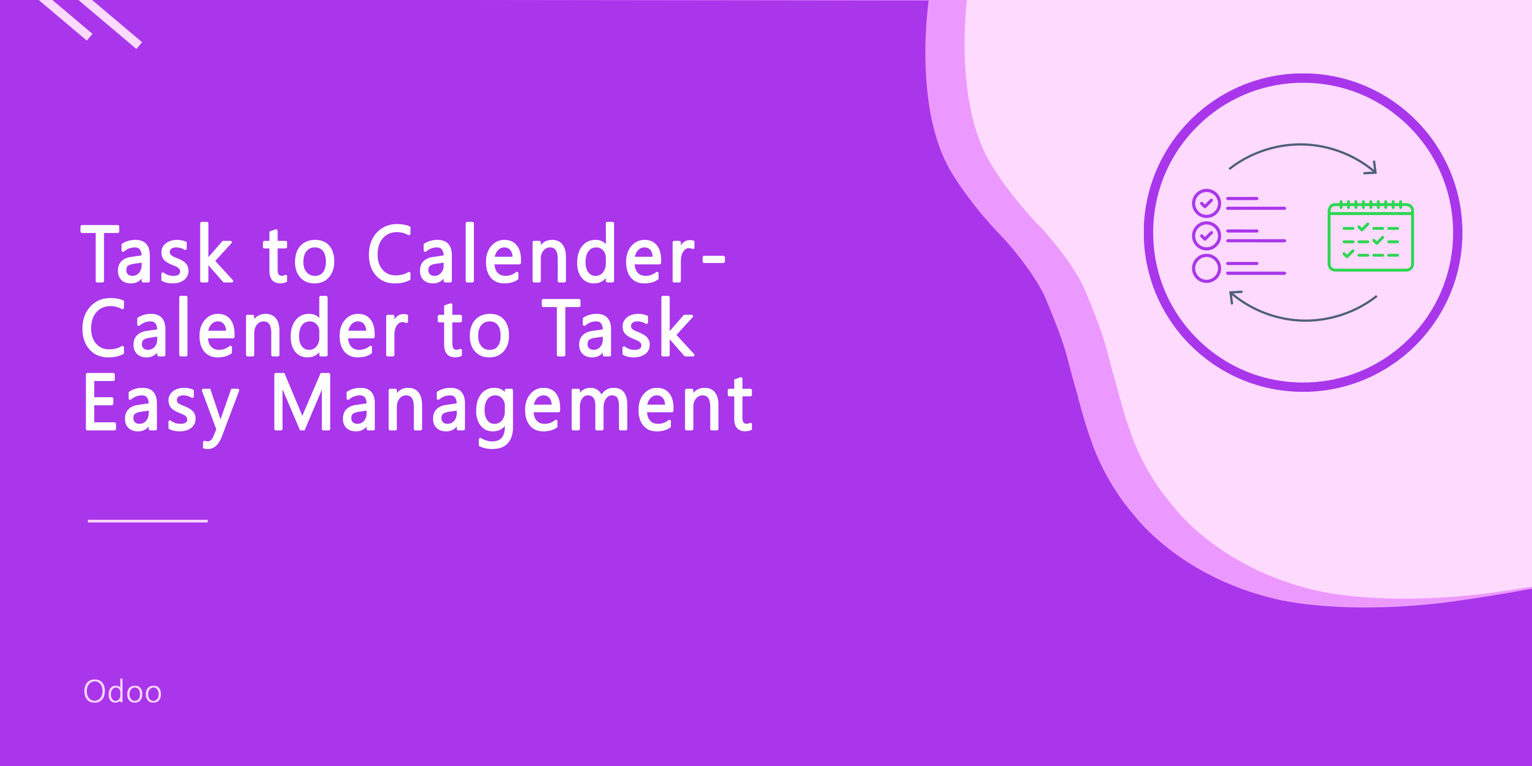Project Task to Calendar and Calendar to Task Easy Management