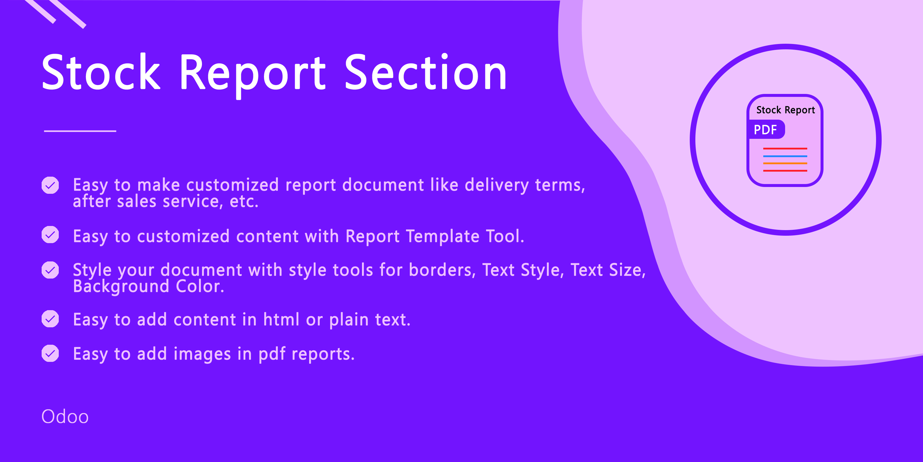 Stock Reprot Section
