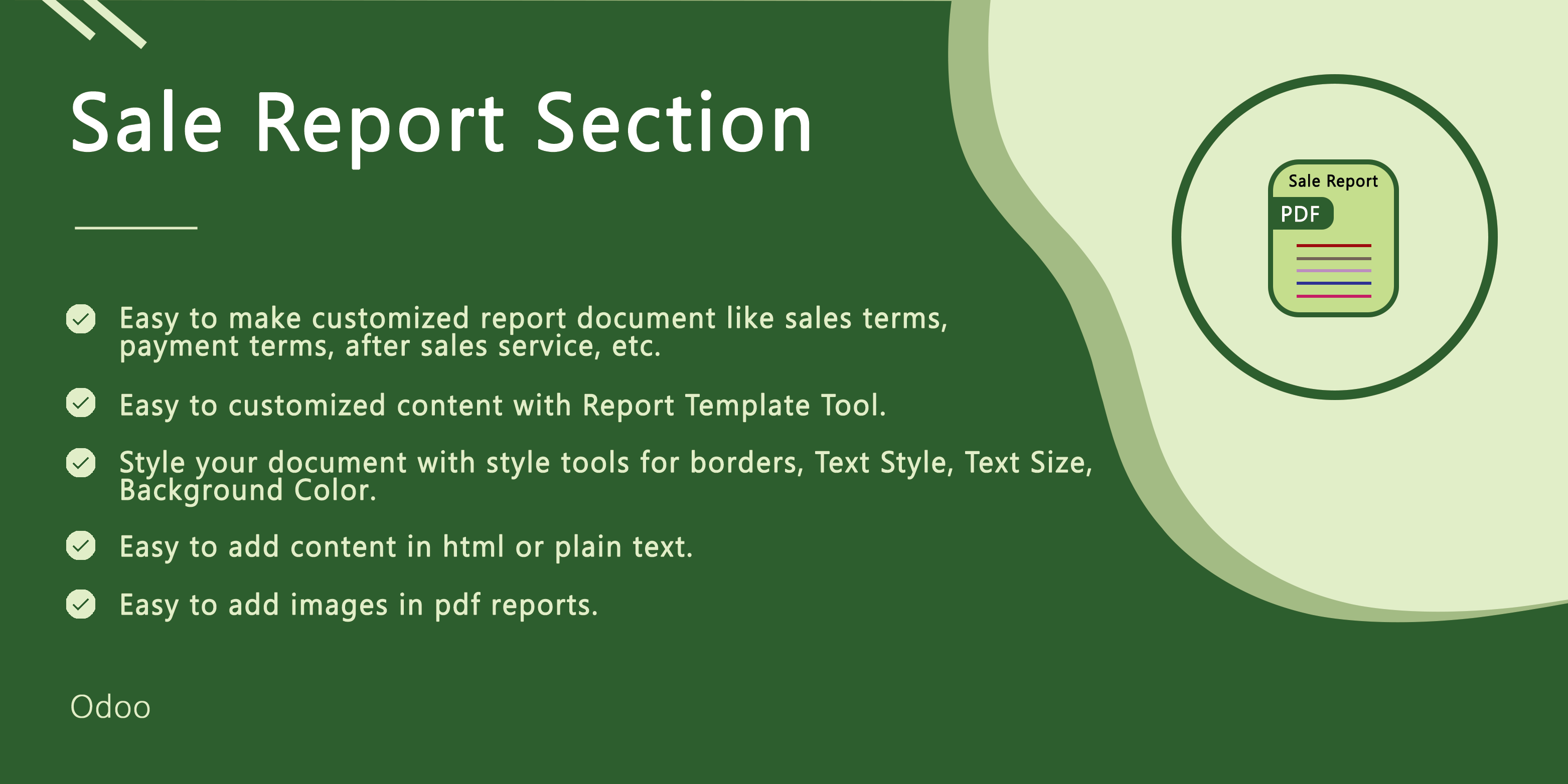 Sale Reprot Section