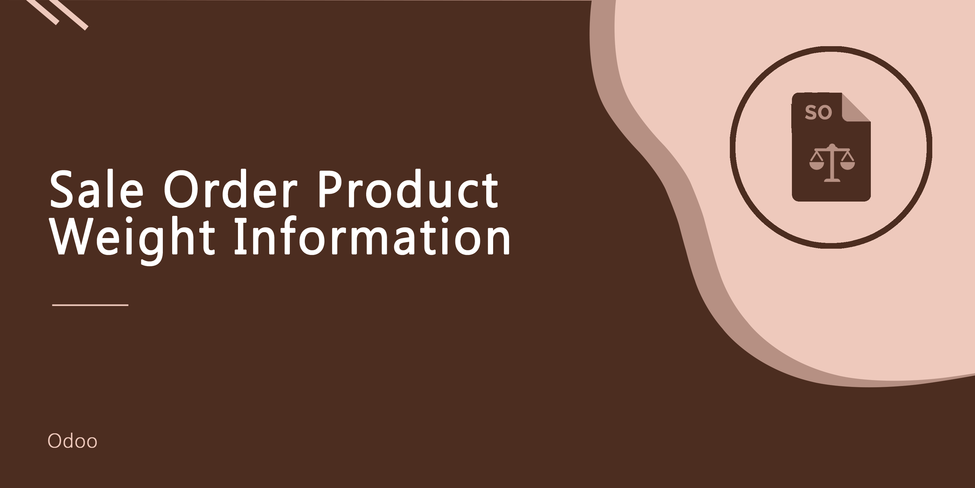 Sale Order Product Weight Information