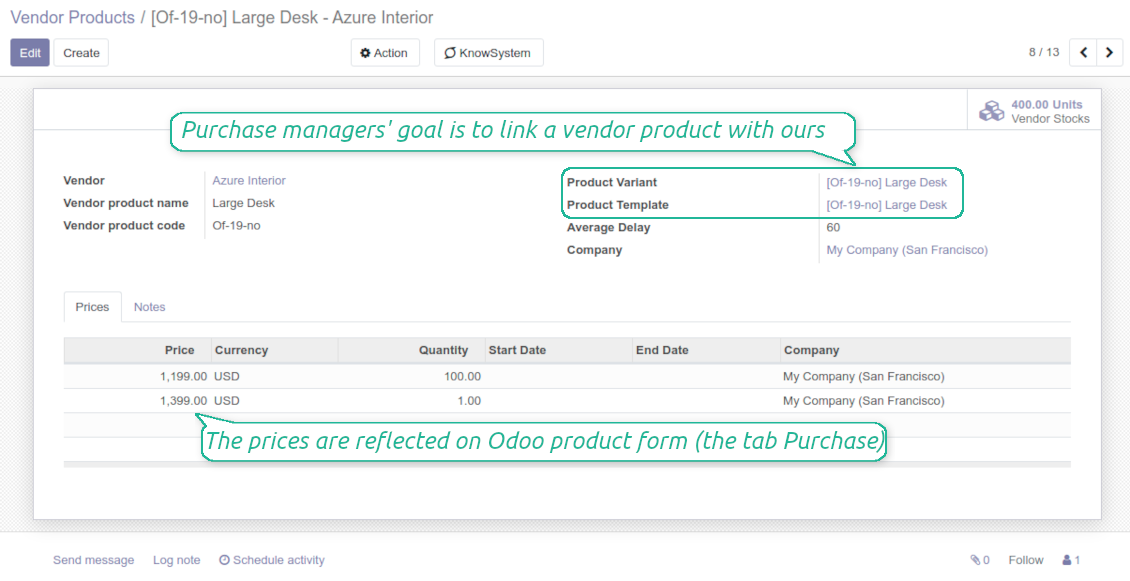 Supplier product in Odoo