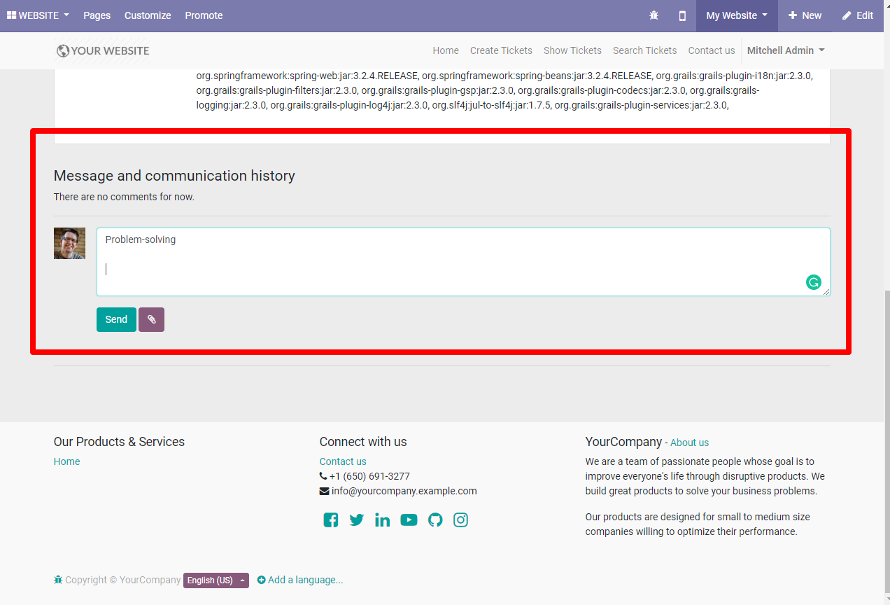 Customer Support and Helpdesk system in odoo