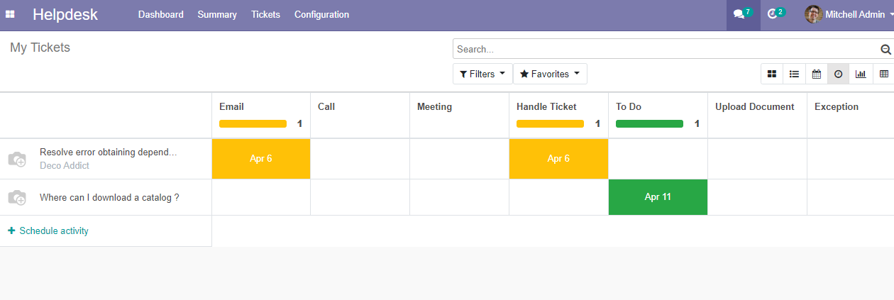 helpdesk support ticket management for odoo 13