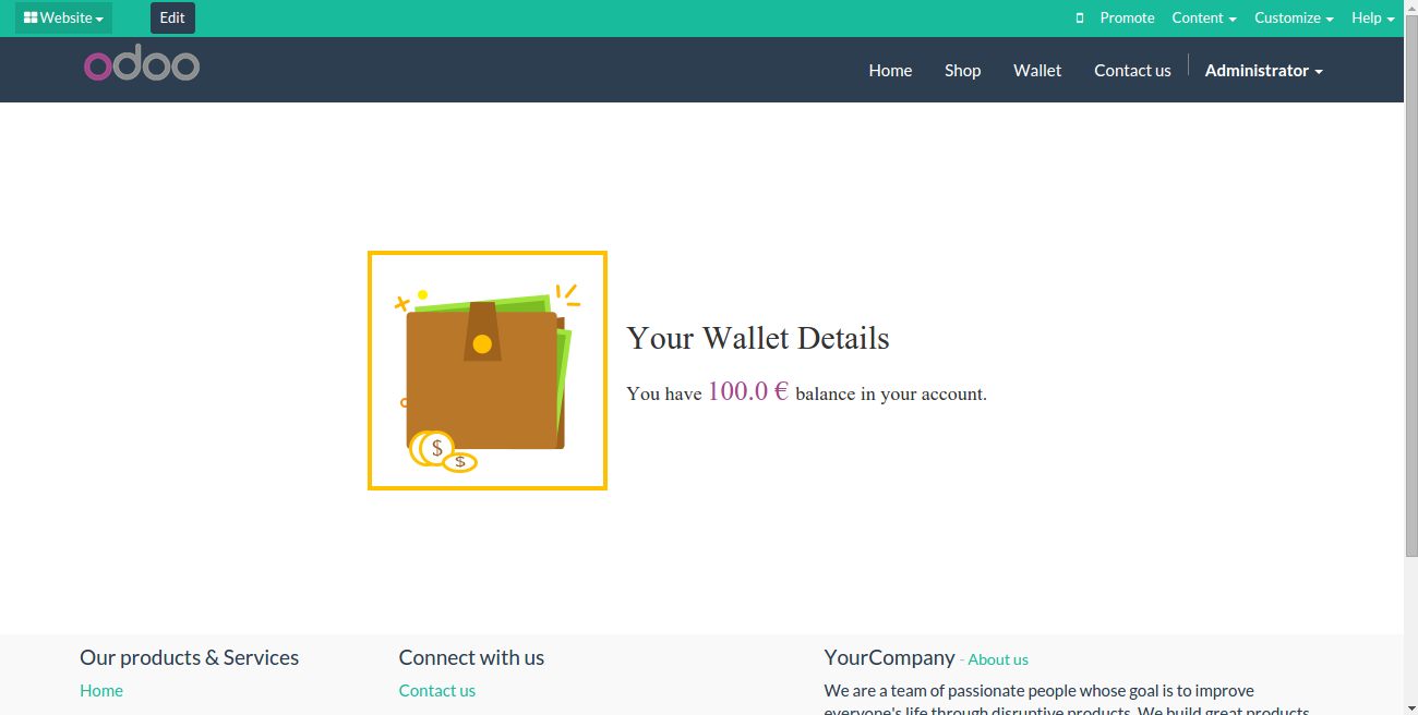 ODOO-Website-E-Wallet