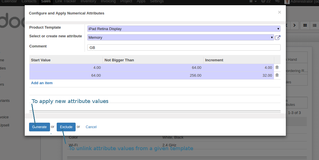 Odoo configure batch creation of numerical attribute values