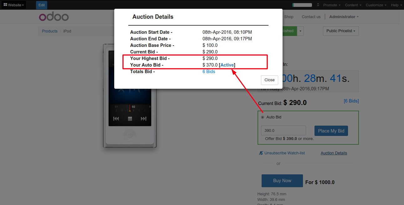 Auction-Auto-BId-Info