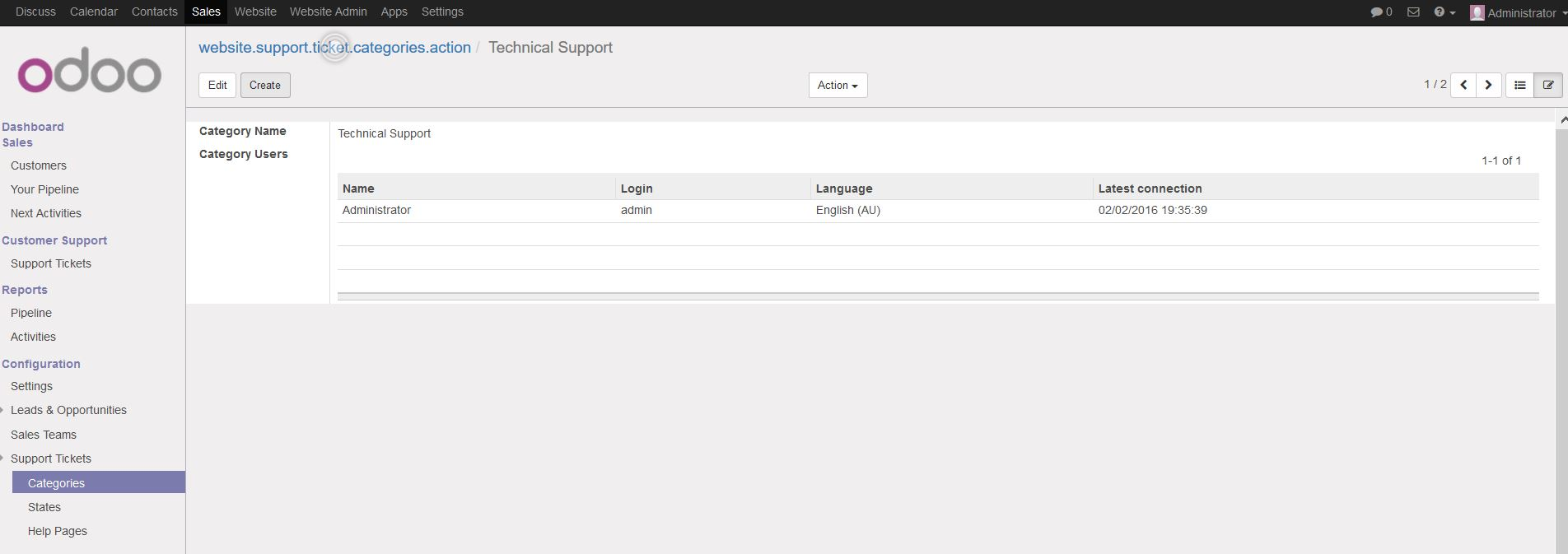 Configure Support Ticket System