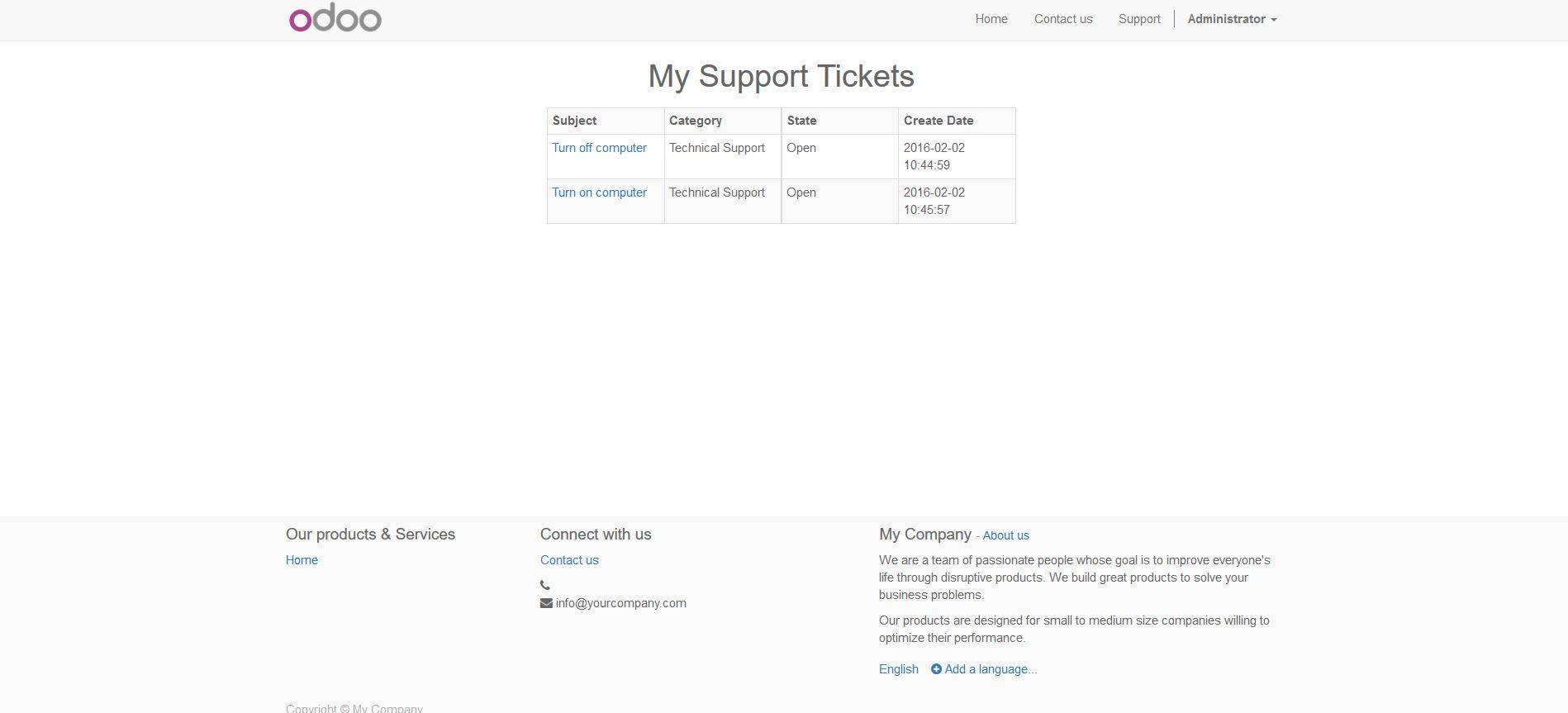 View Support Tickets Online